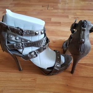 GUESS Studded Strappy Heels